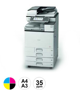 14 Ricoh MPC3504 multifunctional
